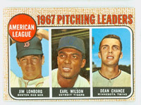 1968 Topps Baseball 10 AL Pitching Leaders LONBERG  Excellent