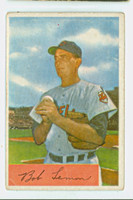 1954 Bowman Baseball 196 Bob Lemon Cleveland Indians Poor