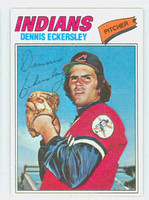 1977 Topps Baseball 525 Dennis Eckersley Cleveland Indians Excellent to Mint