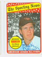 Brooks Robinson AS AUTOGRAPH 1969 Topps #421 All Star Orioles CARD IS VG, AUTO CLEAN  [SKU:RobiB1208_T69BBASS]