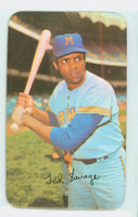 1971 Topps Baseball Supers 3 Ted Savage Milwaukee Brewers Very Good to Excellent