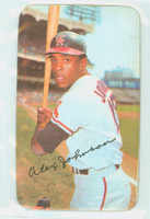 1971 Topps Baseball Supers 8 Alex Johnson California Angels Very Good