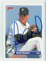 Scott Aldred AUTOGRAPH 1993 Donruss Tigers 