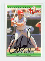 Ruben Amaro AUTOGRAPH 1992 Donruss Phillies 
