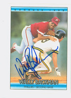 Wally Backman AUTOGRAPH 1992 Donruss Phillies 