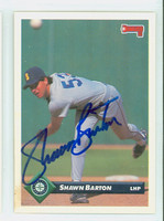 Shawn Barton AUTOGRAPH 1993 Donruss Mariners 