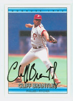 Cliff Brantley AUTOGRAPH 1992 Donruss Phillies 