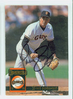 Dave Burba AUTOGRAPH 1994 Donruss Giants 