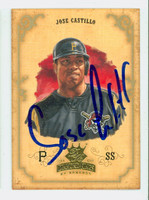 Jose Castillo AUTOGRAPH 2004 Donruss Diamond King Pirates 