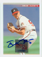 Brad Clontz AUTOGRAPH 1996 Donruss Braves 
