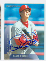David Doster AUTOGRAPH 1997 Donruss Phillies 