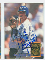 Phil Hiatt AUTOGRAPH 1994 Donruss Royals 