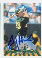 A.J. Hinch AUTOGRAPH 1998 Donruss Athletics 