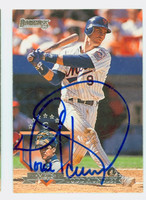 Todd Hundley AUTOGRAPH 1995 Donruss Mets 