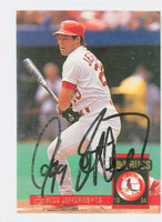 Gregg Jefferies AUTOGRAPH 1994 Donruss Cardinals 