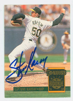 Steve Karsay AUTOGRAPH 1994 Donruss Athletics 