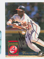 Wayne Kirby AUTOGRAPH 1994 Donruss Indians 