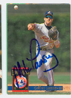 Mike Lansing AUTOGRAPH 1994 Donruss Expos 
