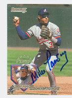 Mike Lansing AUTOGRAPH 1995 Donruss Expos 