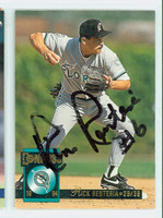 Rich Renteria AUTOGRAPH 1994 Donruss Marlins 