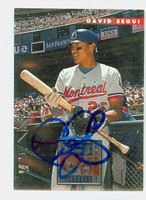 David Segui AUTOGRAPH 1996 Donruss Expos 