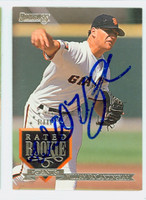William Van Landingham AUTOGRAPH 1995 Donruss Giants 