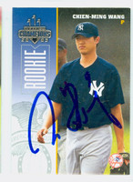 Chien-Ming Wang AUTOGRAPH 2003 Donruss Yankees 