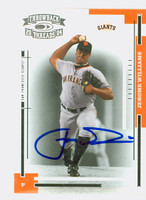 Jerome Williams AUTOGRAPH 2004 Donruss THROWBACK THREADS Giants 