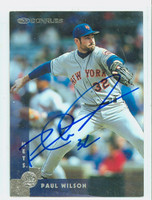 Paul Wilson AUTOGRAPH 1997 Donruss Mets 