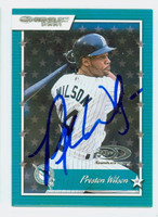 Preston Wilson AUTOGRAPH 2001 Donruss Marlins 