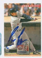 Ron Coomer AUTOGRAPH 1996 Donruss Twins 