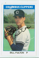 Bill Fulton AUTOGRAPH 1987 TCMA Columbus Clippers 