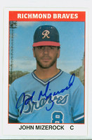 John Mizerock AUTOGRAPH 1987 TCMA Richmond Braves 