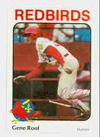 Gene Roof AUTOGRAPH 1984 Rileys Louisville Redbirds 