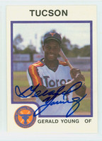Gerald Young AUTOGRAPH 1987 ProCards Tucson Toros 