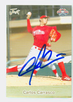 Carlos Carrasco AUTOGRAPH 2005 Just Bonus 2 Gulf Coast Phillies 