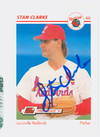 Stan Clarke AUTOGRAPH 1991 Impel Louisville Redbirds 