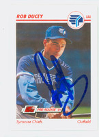 Rob Ducey AUTOGRAPH 1991 Impel Syracuse Chiefs 