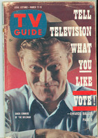 1960 TV Guide Mar 12 The Rifleman Minnesota State edition Very Good - No Mailing Label  [Wear on cover, sl creasing; contents fine]