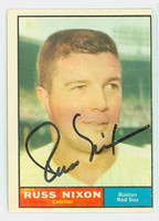 Russ Nixon AUTOGRAPH 1961 Topps #53 Red Sox CARD IS CLEAN VG, OC S/S