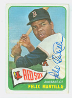 Felix Mantilla AUTOGRAPH 1965 Topps #29 Red Sox CARD IS G/VG; CRN CRUSH, AUTO CLEAN
