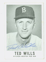 Ted Wills AUTOGRAPH 1960 Leaf BB #56 Red Sox CARD IS CLEAN VG