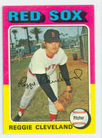 Reggie Cleveland AUTOGRAPH 1975 Topps #32 Red Sox CARD IS CLEAN EX/MT