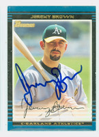 Jeremy Brown AUTOGRAPH 2002 Bowman Athletics 