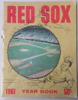 1961 Red Sox Yearbook Fair to Good Heavy damage along binding, contents fine