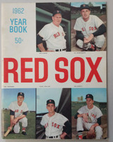 1962 Red Sox Yearbook Excellent Very lt wear on cover, very clean example