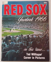 1966 Red Sox Yearbook Very Good Lt creasing on cover; contents fine
