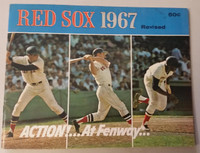 1967 Red Sox Yearbook Revised- AL Pennant Winners! Excellent Lt creasing, indentations on cover; contents fine