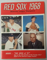 1968 Red Sox Yearbook Excellent Lt wear on cover; ow clean