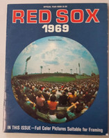 1969 Red Sox Yearbook Revised Excellent Lt wear on cover; ow clean